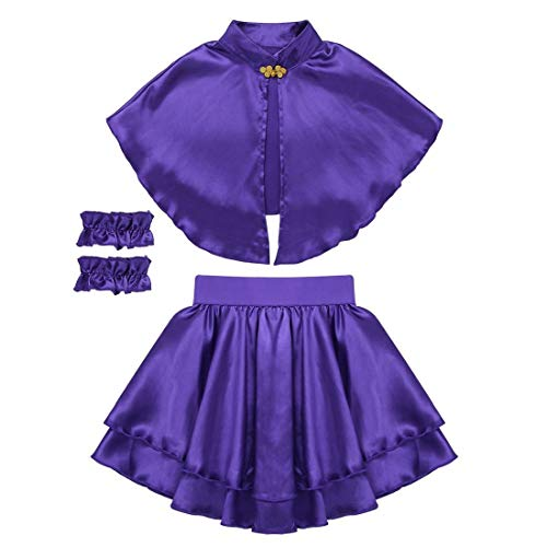Yeahdor Kids Girls Greatest Show Anne-Wheeler Role Play Cosplay Fancy Party Outfits Cape Tops with Pleated Skirt -