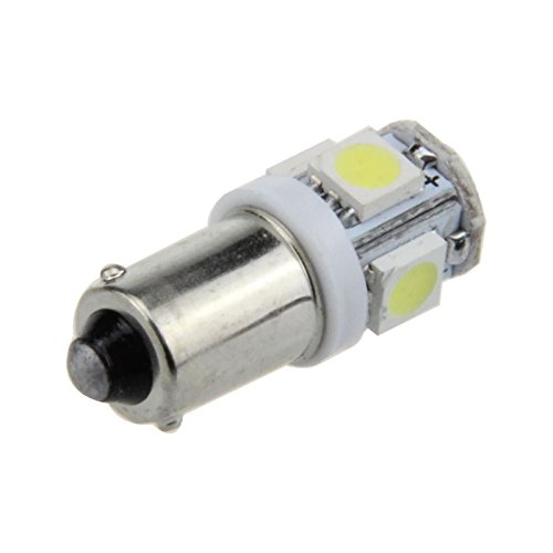 Kindfire 10pcs Ba9s T4w W6w 5-smd 5050 SMD LED License Plate Light Map Bulb Dome Lamp K001(7 Color)(white)