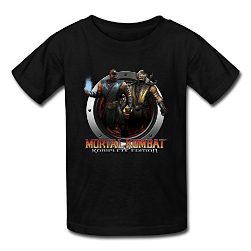 Cute Crew Neck Mortal Kombat Logo Kids Boys And Girls T Shirt Black US Size S (Women Of Mortal Kombat)