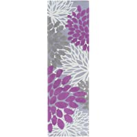 RugPal Kids Runner Area Rug 26x8 in Lavender Color From Ariana Collection