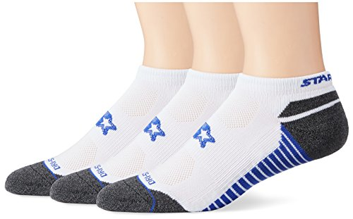 Starter Men's 3-Pack Athletic Microfiber Low-Cut Ankle Socks, Amazon Exclusive, White, Large (Shoe Size 9-12)
