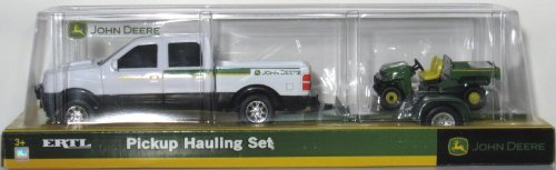 Pickup Hauling Set - One Set: White Pickup with Trailer and Bonus Vehicle