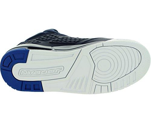 Nike Jordan New School Bg, Zapatillas de Deporte para Niños Azul / Blanco (Midnight Navy / Soar-White)