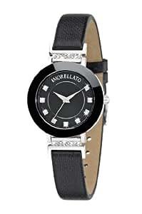 Morellato Firenze R0151103501 - Reloj analógico de cuarzo para mujer, correa de cuero color negro