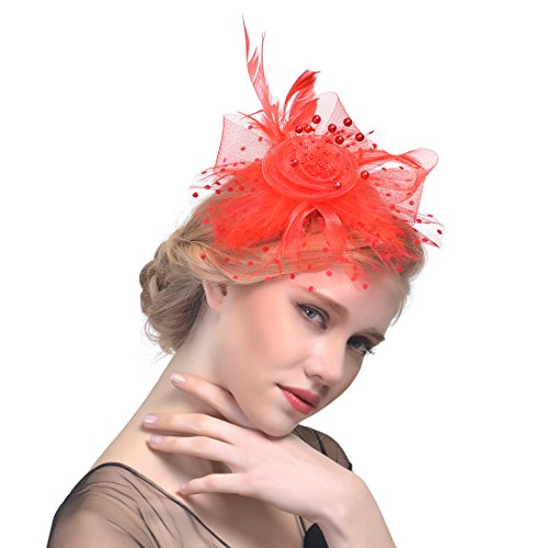 feiyu-crafts-rooster-tails-feather-fascinator-top-hat-for-girls-and-women-red