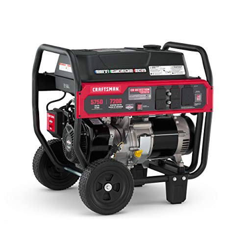 CRAFTSMAN CMXGGAS030790 5750 Watt Portable Generator, Powered by Briggs Stratton 420cc Engine