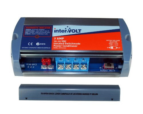 interVOLT Heavy Duty 7 Amp 12V DC-DC Isolated Voltage Stabilizer / Regulator / Power Conditioner / Battery Charger (10-16 VDC Input - 12.5 or 13.6 VDC Output) Model SPCi121207 by interVOLT (Image #2)