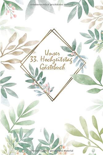 Hochzeitstag 33 Hochzeitsjahre Tabelle