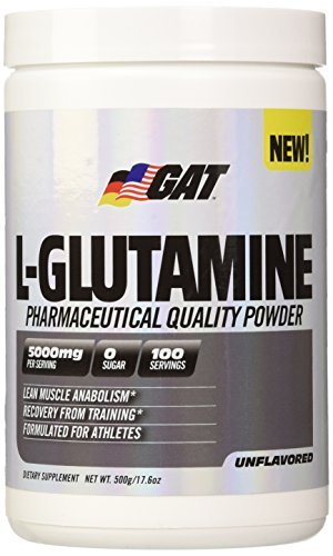 GAT Pure and Potent L-Glutamine Supplement for Advanced Athlete Recovery, 500 Gram by GAT