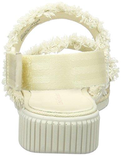 Calvin Klein Jeans Muriel Fringe Canvas, de Tiras para Mujer Blanco (Off White)