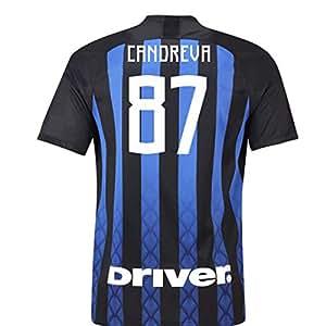Amazon.com: Camiseta de fútbol de la casa de Milán 2018-19 ...