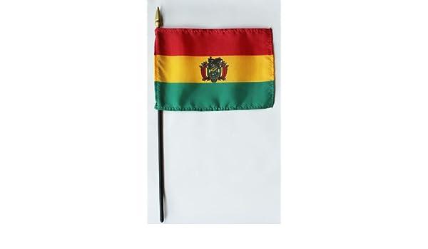 Bolivia - 10,16 cm x 15,24 cm bandera mundo Stick - fabricado en Estados Unidos por Annin: Amazon.es: Jardín