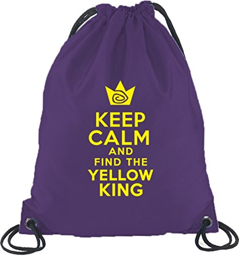 TD - Keep Calm And Find The Yellow King, Turnbeutel Rucksack Sport Beutel Lila
