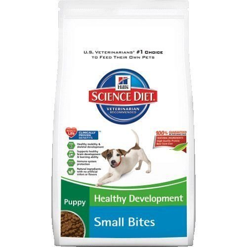 (Hill's Science Diet Puppy Healthy Development Small Bites Dry Dog Food, 15.5-pound Bag, New,)