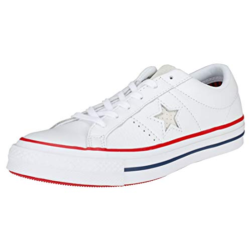 Converse Unisex One Star Ox White/Gym Red/White Casual Shoe 7.5 Men US/9.5 Women US Converse One Star Shoes