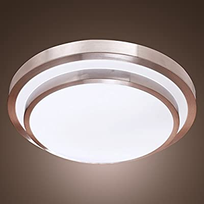 Lightinthebox® White Flush Mount in Round Shape, Modern Ceiling Light Fixture for Kitchen, Dining Room, Bedroom, Living Room (LED Bulb Included)