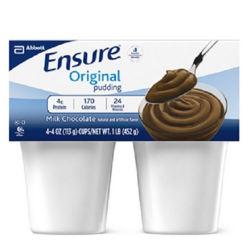 Ensure Pudding Creamy Milk Chocolate Cups 4 X 4oz Pack -