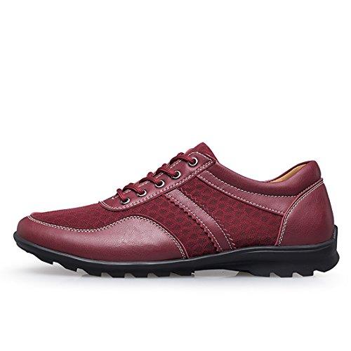 Dekesen Mens Fashion Sneaker Vaughn Sneaker In Pelle Vino Rosso