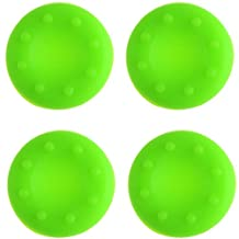 Analog Silicone Thumb Stick Grip Joystick Caps Cover for PS4 PS3 Xbox 360 Xbox One Game Controllers (4 x Green)