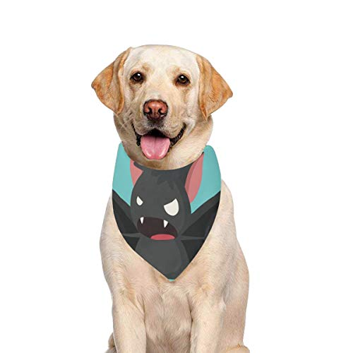 JTMOVING Dog Scarf Halloween Icon Picture Bat Vampire Printing Dog Bandana Triangle Kerchief Bibs Accessories for Large Boy Girl Dogs Cats Pets Birthday Party Gift]()