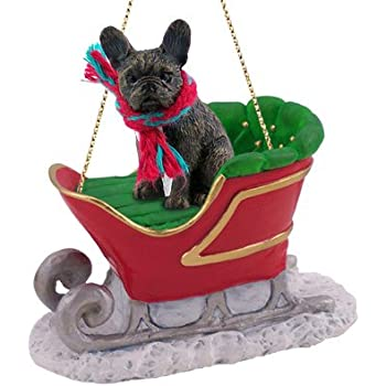 Amazon.com: French Bulldog Sleigh Christmas Ornament: Home & Kitchen