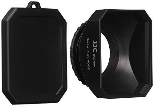 JJC DV37 37mm Lens Hood with Cap for Digital Video DV Camcorders