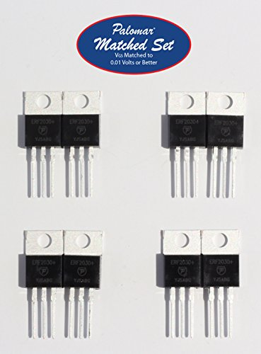 Four (4) Sets of Matched Pairs (8 Mosfets Total) ERF2030+ 30 Watt PEP RF Power Mosfet Transistor in TO-220 Package ()