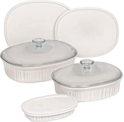 Baking Dish Set Fr White Oval