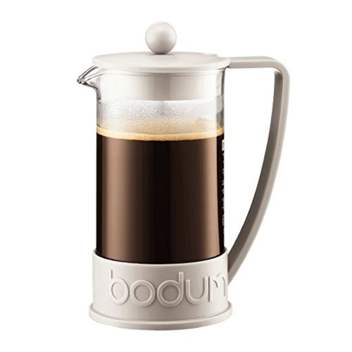 Bodum Brazil French Press Coffee Maker 8 Cup (1.0L / 34oz) - Off White (Pack of 2) by Bodum