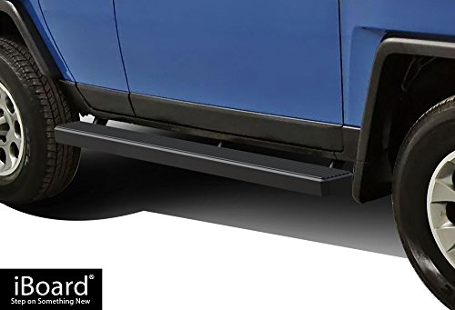 - APS iBoard Running Boards (Nerf Bars | Side Steps | Step Bars) for 2007-2014 Toyota FJ Cruiser Sport Utility 4-Door | (Black Powder Coated 5 inches)