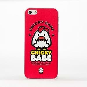 GJYUnique Designed Fancy Chicken Babe Pattern Durable Hard Case for iPhone5/5S , Purple