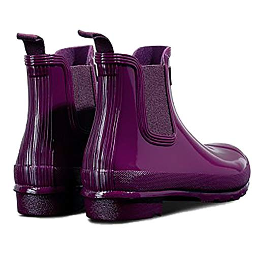 Hunter Top Women's Rubber Original Boot Chelsea Rain Violet High vwvprqC