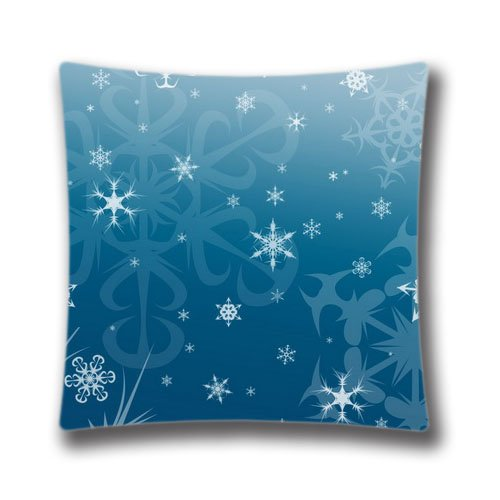 - Cute Pillow Case Wallpaper Christmas Background Pillow Cover Home Decor Pillow Shell 16x16inch Pillow Sham(Two Sides)