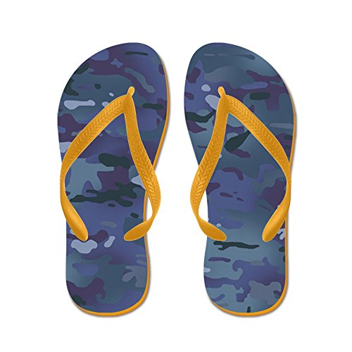 CafePress Camouflage: Deep Blue - Flip Flops, Funny Thong Sandals, Beach Sandals Orange