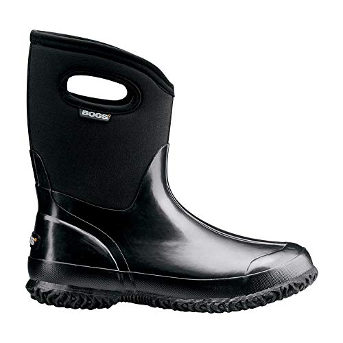 - Bogs Women's Classic Mid Boot with Handles Black 10 & Drying Towel Bundle