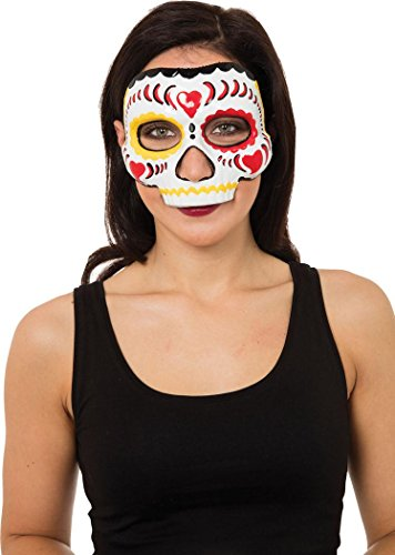 [Day Of The Dead Mask Female W/elastic] (Day Of The Dead Female Mask)