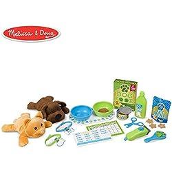 Melissa & Doug Feeding & Grooming Pet Care Play Set (24 Pieces)
