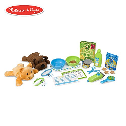 (Melissa & Doug Feeding & Grooming Pet Care Play Set (24 Pieces))