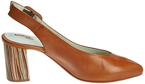 Para Marrón W1s Salamanca brandy Pikolinos Zapatos Talón De Abierto Mujer Z4Wq6YA