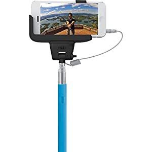 hype selfie stick with shutter button and expandable cradle extends 3 feet. Black Bedroom Furniture Sets. Home Design Ideas