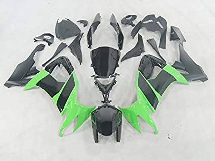 Moto OnFire verde negro plástico Kit de carrocería ...