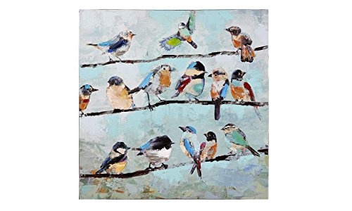 Gift Craft Birds on Line, Stretched Canvas Print (Canvas Prints Stretched)