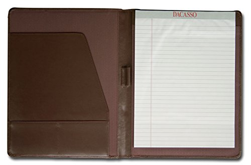 Dacasso Leather Standard Padfolio, Chocolate Brown (E3401) by Dacasso