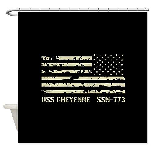 Cheyenne Drapes (CafePress - USS Cheyenne - Decorative Fabric Shower Curtain)