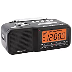 MIDLAND WR11 7-Channel Desktop Alarm Clock/Weather Alert Radio with AM/FM Radio electronic consumer
