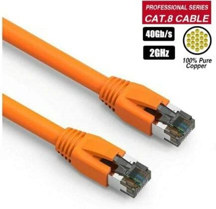 50Ft Cat.8 2GHz 40G RJ45 Network LAN Ethernet S//FTP Copper Lot Color Cable 15ft, Green 1Ft