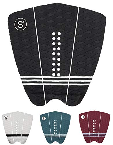 Sympl Surfboard Traction Pad • 3 Pieces • Maximum Grip, 3M Adhesive for Surfboard, Skimboard, Longboard • [Choose Color]