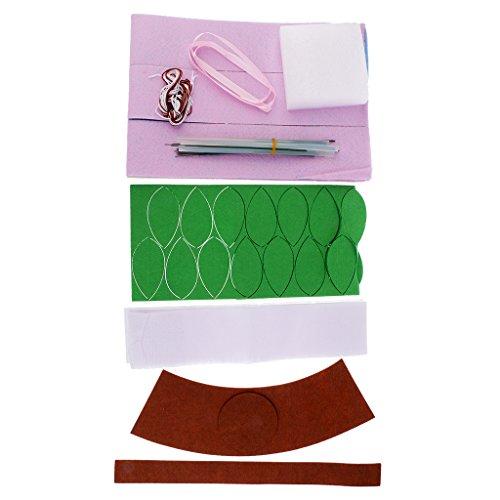 baoblazeマルチカラーローズファブリックフェルトキットフラワーFeltingキットハンドメイド裁縫材料の商品画像