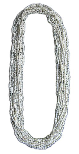 Extra Long Hawaiian/Tahitian Dove Shell Leis / 1 Dozen - Natural White