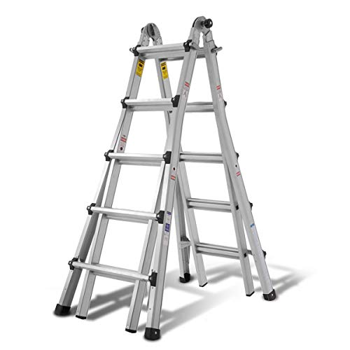 Aluminum Extension Ladder with 300 lb Duty Rating (Load Capacity Type IA), Model 22-Foot Durable and Multi-Purpose Ladder